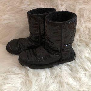 Black Sequined Ugg Boots